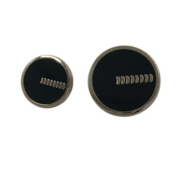 Bekleidungszubehör Benutzerdefinierte Epoxy 20mm Runde Metall Schaftknopf
