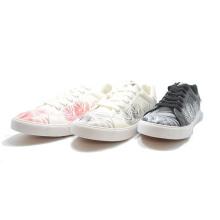 New Leaf PU Printing Men Women Student Casual Bandage Shoes
