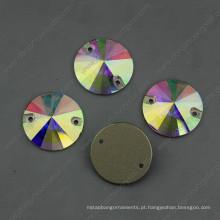Ab Sew na forma redonda das pedras de cristal (DZ-3041)