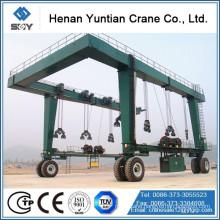 Ruber Tyre Mobile Boat Gantry Crane 200t