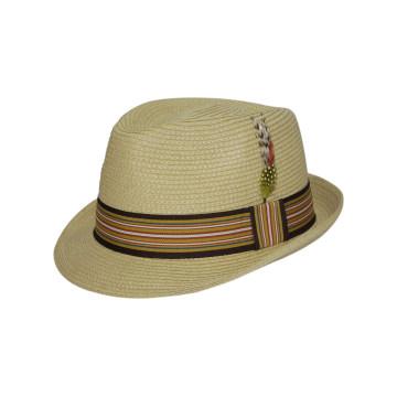 Chapeau de paille personnalisé avec ceinture imprimée pour le carnaval (FS0002)