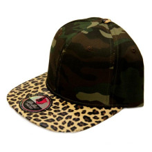 100% Acryl Leder Brim Snapback Cap mit Ihrem Logo