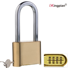 50mm Long Shackle Brass 4 Digital Code Combination Lock