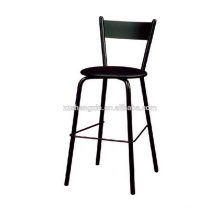 Black Steel Tube Bar Stool Metal Backrest for Sale