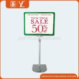 Retail Metal Display Stand With Plastic Frame Poster Holder
