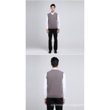Yak Wool/Cashmere V Neck Pullover Waistcoat/Clothes/Garment/Knitwear