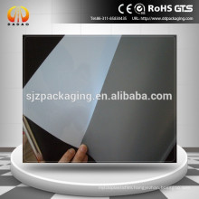 white PET film backing grey for inkjet advertising
