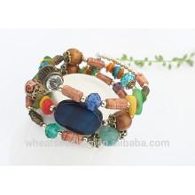 Großhandel Fahion Bunte Jade Acryl Afete Frauen Perlen Armband