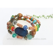 Wholesale Fahion Colorful Jade Acrylic Afete Women Beaded Bracelet