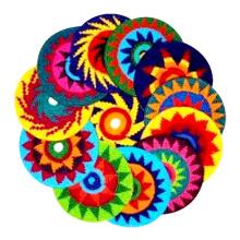 Hand Crochet Frisbee malha 7 polegadas Indoor e 8 polegadas Sport