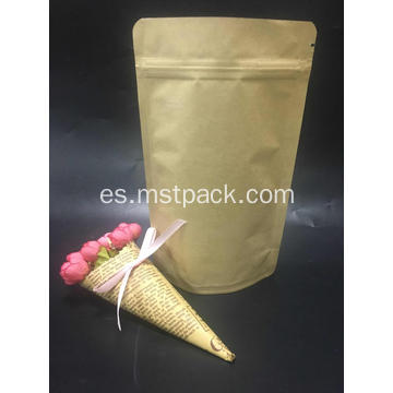 Kraft Paper Stand Up Pouch con cremallera