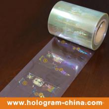 Estampage à chaud de feuille d'aluminium transparent de hologramme de la sécurité 3D