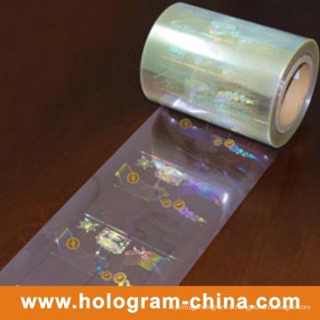 Estampillage à chaud de feuille d'aluminium d'hologramme de laser de la sécurité 3D