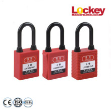 Steel Shackle Nylon Dustproof Padlock Lockout Tagout
