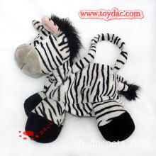 Sac zèbre sac animal en peluche