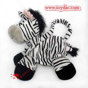 Plush animal bag zebra bag
