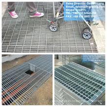 Galvanizado en rejilla de acero piso foso, galvanizado cubierta del foso