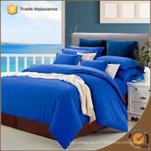 100% Baumwolle Twill Solid Color Bettwäsche Set / Bettwäsche