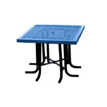 Table et chaises en acier au carbone