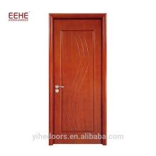 Porte en bois en caoutchouc de conception de porte en bois stratifié de placage italien