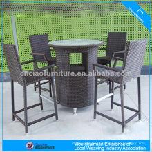 F-FT018 + FC044 baixo preço ergonômico relaxar conjunto de barra de móveis de vime interior