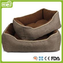 Leinen Soft Plüsch Slap-up Haustierbett (HN-pH564)