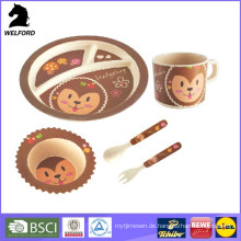Eco-Friendly Bambus Fiber Kid Dinner Set