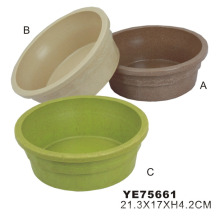 Plastic Dog Bowl, Pet Food Bowl (YE75661)