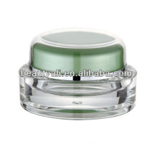 oval plastic acrylic cosmetic cream container