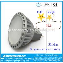 120 degree for option High quality led lamp MR16 led spot light MR16