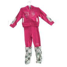 Costume de Terry Français de mode fille en vêtements de sport pour enfants (SWG-116)