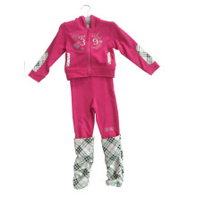 Terno de Terry do francês da menina da forma no desgaste do esporte da roupa das crianças (SWG-116)