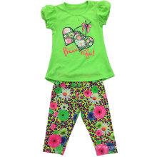 Terno da menina das crianças do verão para a roupa SGS-111 das crianças