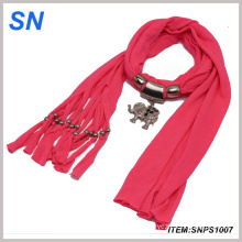Jewelry Scarf with Elephant Pendant and (SNPS1007)