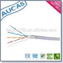 Precio de fábrica caliente de China de la venta Cable del lan de Ethernet de la red del sftp cat5e del amplificador 1000ft 305m / roll