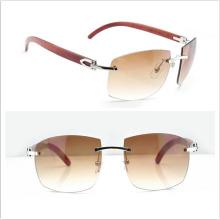 Деревянные солнцезащитные очки без очков Rimless / Деревянные солнцезащитные очки