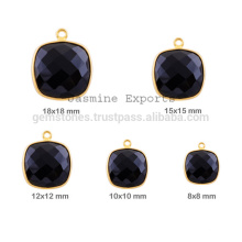 Wholesale Semiprecious Gemstone Bezel Charm, Handmade Cushion Shape Gemstione Charms In Bezel Jewelry