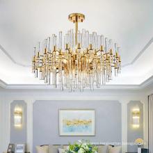 Living room bedroom lustre ceiling lights modern gold crystal chandeliers for homes