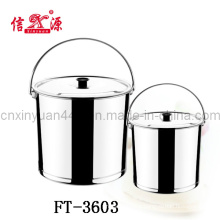 Stainless Steel Pail with Cove Bucket (FT-3603)