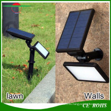 4 modos de iluminación 48LED 960lm High Brigntness Lámpara de pared solar multifunción Solar Garden Spotlight Lights Spike Lawn Light con Ground Stake