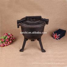 Неэмалированная чугунная голландская печь для кемпинга