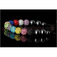Rainbow shamballa bracelets
