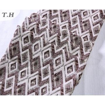 Colorful Diamond Pattern 100% Polyester Jacquard Sofa Fabric