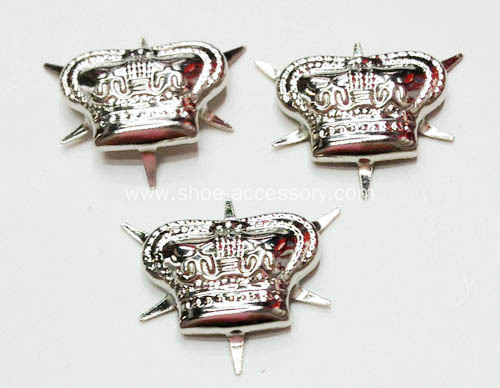 Silver Crown Nailheads 6 Prongs