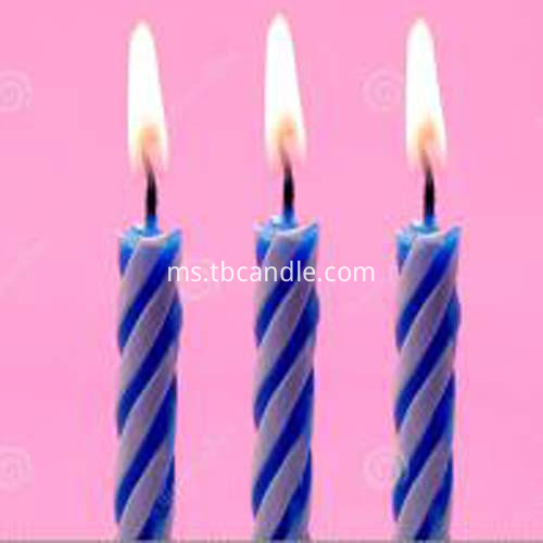 blue birthday little candle