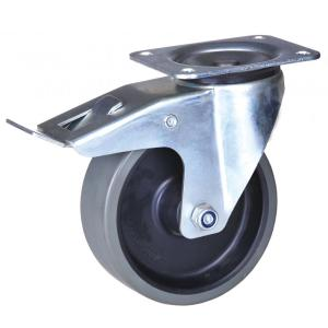 125mm swivel caster med lås