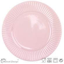"""Plato de cena de cerámica en relieve de 10.5 """"al por mayor"""