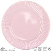 "10.5 ""plaque de dîner en céramique en relief"