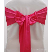 Correa de satén de seda de color rosa caliente para la boda