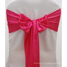 Ceinture en satin de soie rose pour mariage